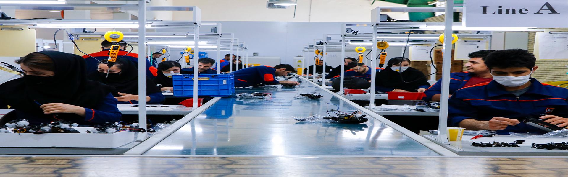 خط تولید شرکت پیشرو سورین فنآور فرتاک